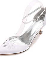 cheap -Women's Wedding Shoes Stiletto Heel Pointed Toe Rhinestone Satin Sweet / British Spring & Summer White / Purple / Champagne