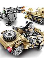 cheap -Building Blocks 646 pcs Military compatible Legoing Simulation Military Vehicle All Toy Gift / Kid's