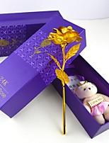 abordables -rose d'or 24 k feuille d'or roses simulation bouquet créatif amant cadeaux cadeaux de la Saint-Valentin