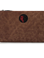 cheap -Men's Zipper Nappa Leather Clutch Solid Color Brown / Blue / Coffee