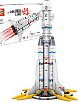 cheap -Building Blocks 332 pcs Spacecraft compatible Legoing Simulation Rocket & Spaceship All Toy Gift / Kid's