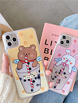 cheap -Case For Apple iPhone 11 / iPhone 11 Pro / iPhone 11 Pro Max Pattern Back Cover Word / Phrase / Cartoon PVC