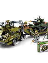 cheap -Building Blocks Military Blocks Vehicle Playset 915 pcs Military compatible Legoing Simulation Military Vehicle All Toy Gift / Kid's / Educational Toy