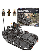 cheap -Building Blocks 997 pcs Military compatible Legoing Simulation Tank All Toy Gift / Kid's