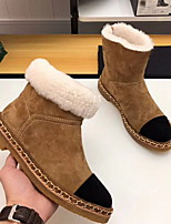 cheap -Women's Boots Flat Heel Round Toe Suede Booties / Ankle Boots Winter Black / Brown