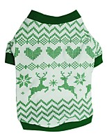 cheap -Dog Shirt / T-Shirt Winter Dog Clothes Green Costume Cotton Print Cosplay Christmas XS S M L