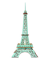 cheap -3D Puzzle Wooden Puzzle Eiffel Tower Simulation Hand-made Wooden 25 pcs Kid's Adults' All Toy Gift