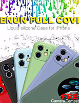cheap -Full Cover Liquid Silicone Phone Case For Apple iPhone 11 case 11 Pro Max Case Soft Skin X XS XR 7 8 Plus  Odorless and Non-toxic With Free Camera Tempered Glass