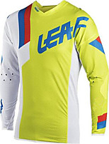 cheap -21Grams Men's Long Sleeve Cycling Jersey Downhill Jersey Dirt Bike Jersey Winter 100% Polyester Yellow Bike Jersey Top Mountain Bike MTB Road Bike Cycling Thermal / Warm UV Resistant Breathable Sports