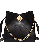 cheap -Women's Chain Polyester / PU Top Handle Bag Solid Color Black / White / Yellow
