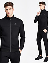 cheap -Men's 2-Piece Spandex Tracksuit Sweatsuit 2pcs Running Fitness Gym Workout Breathable Soft Sweat-wicking Sportswear Normal Hoodie and Pants Athletic Clothing Set Long Sleeve Activewear Micro-elastic