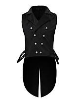 abordables -Docteur de la peste Victoriens Steampunk Gilet Paisley Coletes Homme Costume Noir Vintage Cosplay Soirée Halloween