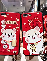 cheap -Case for Apple scene map iPhone 11 11 Pro 11 Pro Max X XS XR XS Max 8 new year's cartoon frosted relief TPU material soft bag lanyard phone case YLF