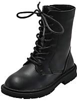 cheap -Boys' / Girls' Combat Boots Cowhide Boots Little Kids(4-7ys) / Big Kids(7years +) Black / Beige Fall