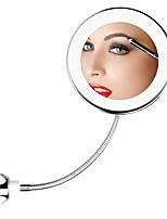 abordables -Rotation à 360 degrés 10x miroir de maquillage grossissant Mon miroir flexible Miroir de vanité pliant avec des outils de maquillage légers à LED