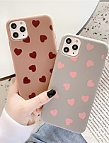cheap -Case For Apple iPhone 11 / iPhone 11 Pro / iPhone 11 Pro Max Pattern Back Cover Tile / Heart TPU for iPhone X XS XR XS MAX 8 8PLUS 7 7PLUS 6 6PLUS 6S 6S PLUS