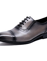 cheap -Men's Formal Shoes Nappa Leather Spring & Summer / Fall & Winter Classic / British Oxfords Non-slipping Gray