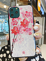 cheap -Case for Apple scene map iPhone 11 11 Pro 11 Pro Max X XS XR XS Max 8 Flower language series pattern TPU material IMD craft drip glue all-inclusive mobile phone case