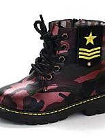 cheap -Boys' Combat Boots PU Boots Little Kids(4-7ys) Green / Red / Blue Winter / Mid-Calf Boots