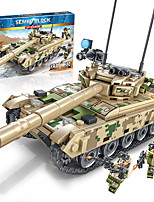 cheap -Building Blocks Military Blocks Vehicle Playset 432 pcs Military compatible Legoing Simulation Tank All Toy Gift / Kid's / Educational Toy