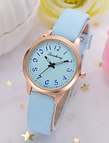cheap -Women's Quartz Watches New Arrival Minimalist Black White Blue PU Leather Chinese Quartz Black White Blushing Pink Chronograph Cute New Design 1 pc Analog One Year Battery Life