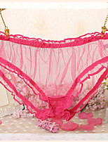 cheap -Women's Lace / Cut Out / Flower Briefs - Normal Mid Waist Black Purple Blushing Pink One-Size