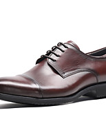 cheap -Men's Formal Shoes Nappa Leather Spring & Summer / Fall & Winter Casual / British Oxfords Non-slipping Black / Brown
