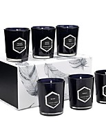 cheap -Premium Eucalyptus & Chamomile Hand Poured Scented Candles, 15 Hour Burn, Long Lasting, Highly Scented, All Natural Soy Candles | Relaxing Aromatherapy Candle with Matte Black Glass Gift Box