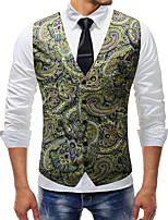 cheap -Plague Doctor Victorian Steampunk Waistcoat Paisley Coletes Men's Cotton Costume Green Vintage Cosplay Party Halloween / Vest