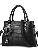 cheap -Women's Rivet Faux Leather / PU Top Handle Bag Solid Color Black / Wine / Dark Red