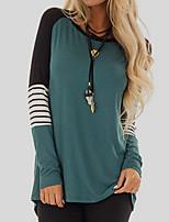 cheap -Women's Daily T-shirt - Color Block Black