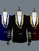 cheap -Uniforms Victorian Napoleon Jacket Winter Coat Pants Suits & Blazers Men's Costume Black / Burgundy / Blue Vintage Cosplay Party Halloween Long Sleeve