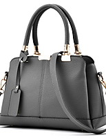 cheap -Women's PU Top Handle Bag Solid Color Black / Wine / Blushing Pink
