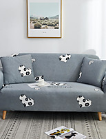 cheap -Grey Heart Print Dustproof All-powerful Slipcovers Stretch Sofa Cover Super Soft Fabric Couch Cover with One Free Pillow Case