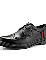 cheap -Men's Formal Shoes PU Spring / Fall & Winter Business / British Oxfords Walking Shoes Non-slipping Black / Wedding