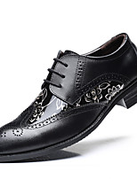 cheap -Men's Formal Shoes Leather / Faux Leather Spring & Summer / Fall & Winter Business / Casual Oxfords Breathable Black / Brown / Yellow