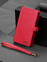 cheap -Case For Apple iPhone 11 / iPhone 11 Pro / iPhone 11 Pro Max Wallet / Card Holder / Shockproof Full Body Cases Solid Colored PU Leather