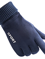 cheap -Winter Bike Gloves / Cycling Gloves Windproof Warm Wearable Stretchy Full Finger Gloves Sports Gloves Fleece Black Blue Grey for Adults Cycling / Bike Activity & Sports Gloves