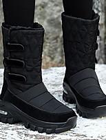 cheap -Women's Boots Flat Heel Round Toe Mesh Mid-Calf Boots Fall & Winter Black / White / Gray