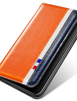 cheap -Case For Samsung Galaxy S9 / S9 Plus / S8 Plus Card Holder / Shockproof / with Stand Full Body Cases Solid Colored PU Leather / TPU