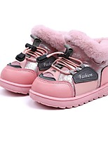 cheap -Girls' Snow Boots Synthetics Boots Little Kids(4-7ys) Black / Pink / Gray Winter / Booties / Ankle Boots