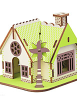 cheap -3D Puzzle Wooden Puzzle Architecture Simulation Hand-made Wooden 17/18/20/29/33/24 pcs Kid's Adults' All Toy Gift