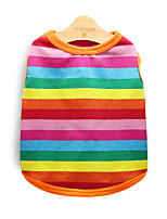 cheap -Dog Vest Winter Dog Clothes Rainbow Costume Cotton Stripes Cosplay XS S M L XL