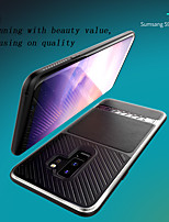 cheap -Case For Samsung Galaxy S9 / S9 Plus Shockproof Back Cover Solid Colored PU Leather / TPU