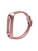cheap -Watch Band for Mi Band 3 / Xiaomi Mi Band 4 Xiaomi Jewelry Design Stainless Steel Wrist Strap Bracelet Mirror Design