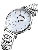 cheap -SKMEI Women's Quartz Watches Casual Silver Stainless Steel Japanese Quartz Silver Water Resistant / Waterproof New Design Shock Resistant 1 pc Analog Two Years Battery Life