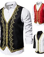 abordables -Docteur de la peste Victoriens Steampunk Gilet Paisley Coletes Homme Coton Costume Noir / Blanche / Rouge Vintage Cosplay Soirée Halloween