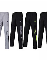 cheap -Men's Running Pants Track Pants Sports Pants Sports Pants / Trousers Running Fitness Jogging Thermal / Warm Breathable Quick Dry Color Block Black / White Black / Green Black+Gray Gray