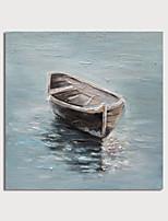 abordables -Peinture à l'huile Hang-peint Peint à la main - Abstrait Paysage Moderne Inclure cadre intérieur