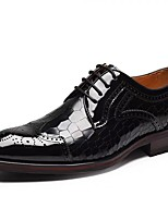 cheap -Men's Novelty Shoes Nappa Leather Spring & Summer / Fall & Winter Classic / British Oxfords Non-slipping Black / Wine / Party & Evening